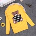 Spring Winter 2 3 4 6 8 10Y O-neck Knitted Sweater Children Sweater Full Sleeve Children Girls/Boys Pullover KC-1547-11