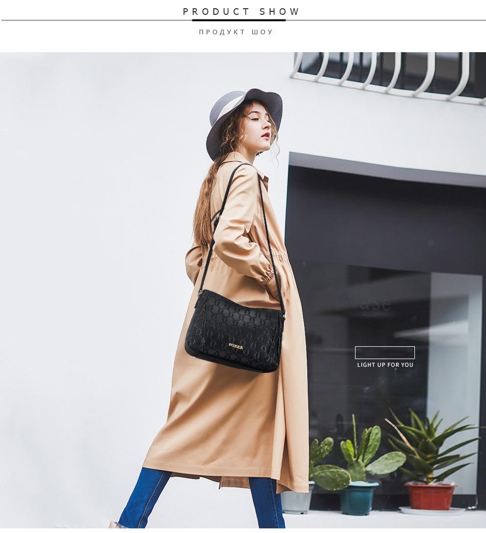 de Moda saco embossing bolsa de Ombro