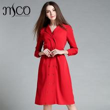 High quality Brand Designer Double Breasted A Line Midi Trench Coat Fashion Winter Long Red Parka Coat Classic Fit Belt Jacket