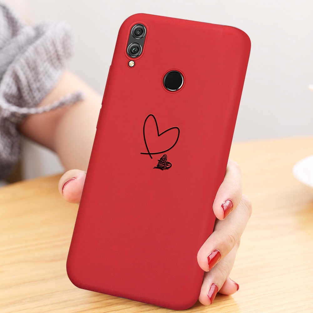 Wine Red Heart Case For Huawei Honor 8X 10i 20i 20 Pro 10 9 Lite P Smart 2019 P30 P20 Pro Mate 20 Lite Nova 5 Pro 5i TPU Cover