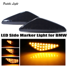 2 pieces Led Dynamic Side Marker Turn Signal Light Sequential Blinker ForBMW X3 X5 X6 F25 E70 E71 E72 Amber