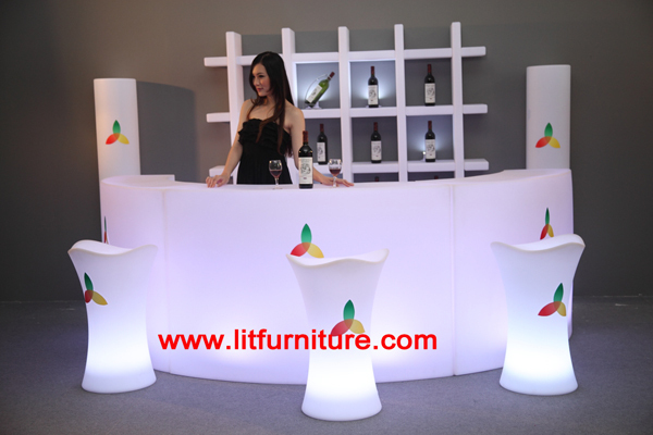 Good Led Round Bar Counters Design/led Bar Counter And Table/waterproof Led Bar  Counter