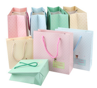 100pcs Cartoon Cute Teddy Bear Paper Gift Bag Large Bags Birthday Wedding