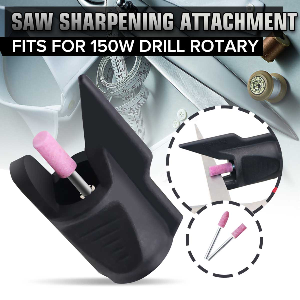 Electric Grinding Knife Chain Tool Saw Sharpen Sharpening Attachment Electric Rotary Power Drill Adapter Grinding Polishing Bit