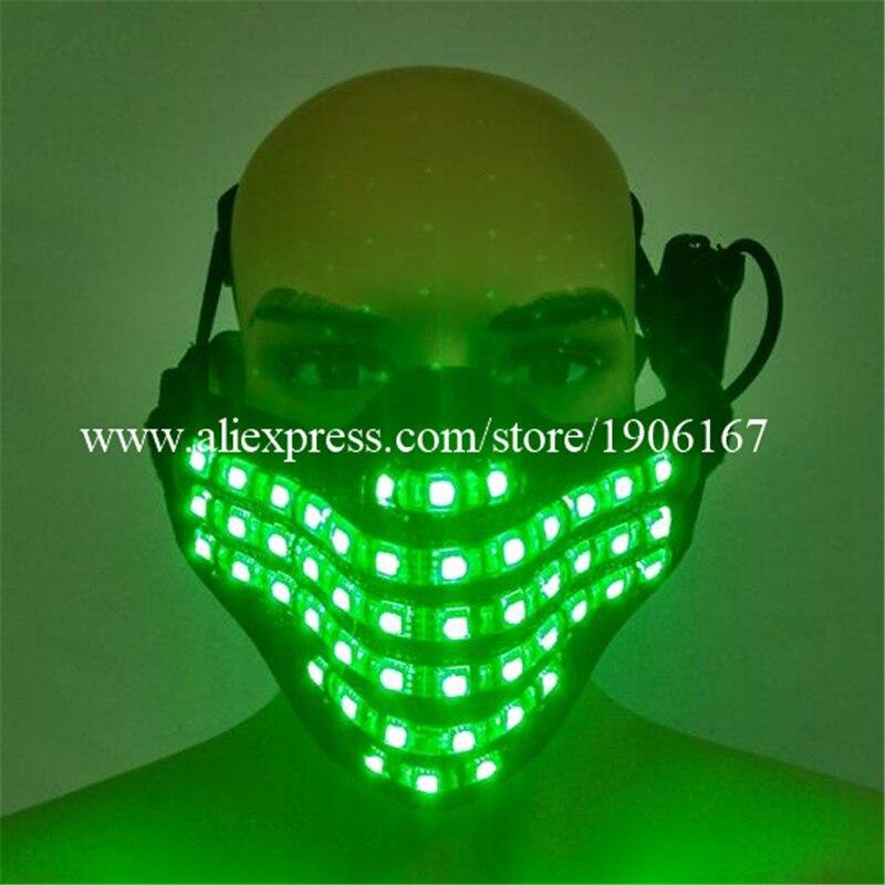 Новый светодиодный красочные светящиеся маски светящиеся DJ ночной клуб показать Косплэй танец Аксессуары Хэллоуин маскарад Маски для вече…