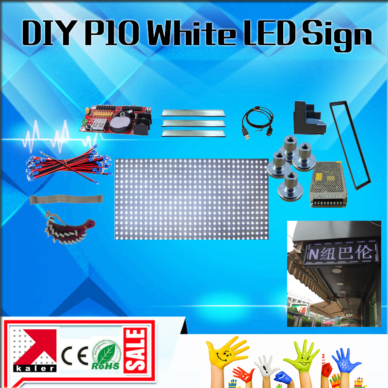 32*64pixels 1/4 Scan Outdoor White Color P10 Led Advertising Display Screen Outdoor Open Sign Free Shipping Diy Led Display