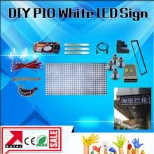 Pantalla de publicidad led p10 de 32x64 píxeles 1/4 escaneado al aire libre color blanco envío gratis diy pantalla led