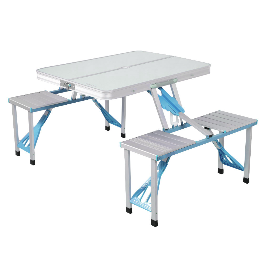 lixada portable folding table chairs set aluminum alloy 4 person outdoor party dining camping barbecue picnic - Folding Table And Chairs