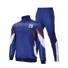 цены на 18 19 Custom Tracksuit Soccer Training Suit Canilleras Fe f tbo Design Your Own Long Zipper Sublimation Sportswear JoggingSuit  в интернет-магазинах