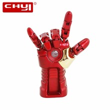 USB Flash Drive 8GB 16GB 32GB Metal Iron Man Hand Shaped Pendrive USB2.0 Memory Stick 64GB Pen Thumb Drive Gift Pendrives