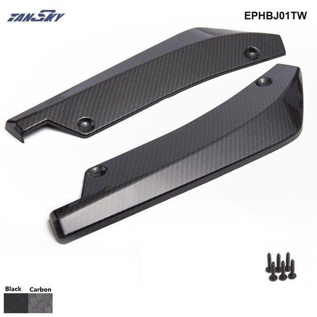 2PCS/SET Universal Rear Bumper Spoiler Canards Diffuser Car Side Fin Scratch Protect CoolEPHBJ01