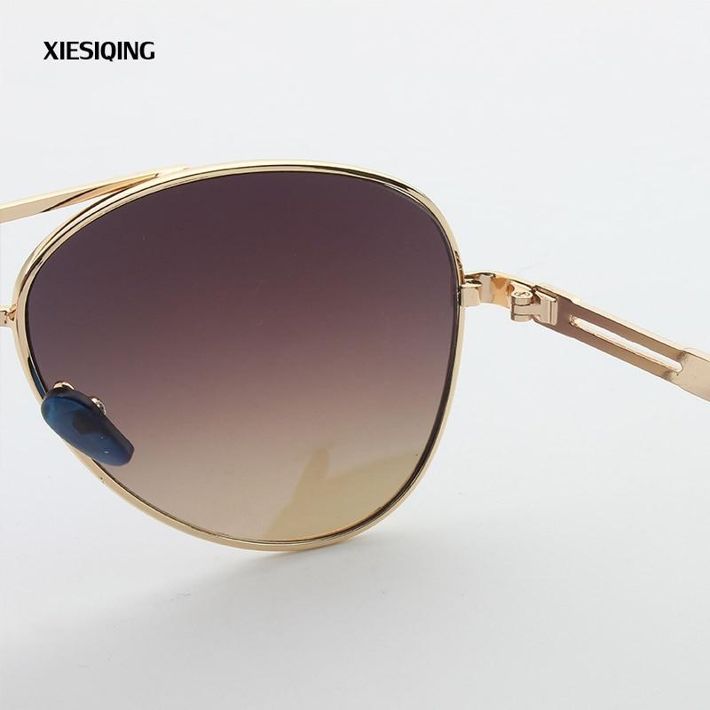 2017 New retro round sunglasses women brand designer sun glasses for women Alloy mirror sunglasses female Goggles