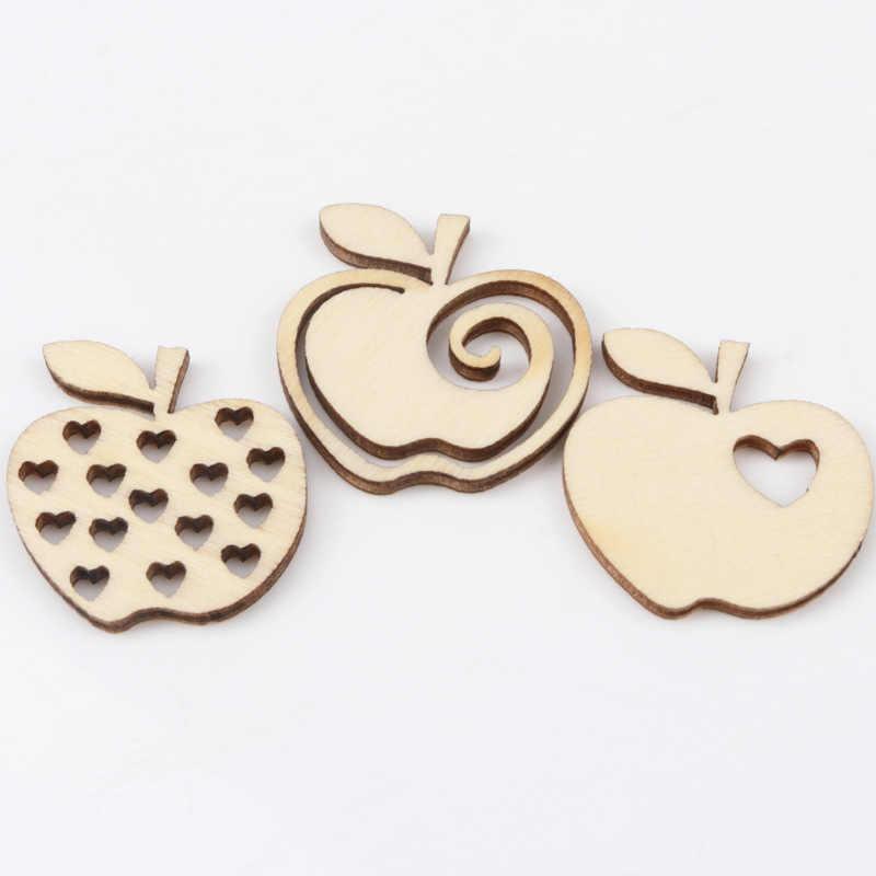 Natual деревянный узор Apple Скрапбукинг художественная коллекция ремесло для аксессуаров ручной работы шитье украшение дома 30 мм 20шт
