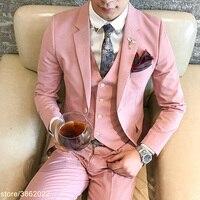 Заказ вечерние платье для мужчин розовый смокинг блестящие розовые костюмы для выпускного мужская одежда дейтс свадебные, мужские костюмы
