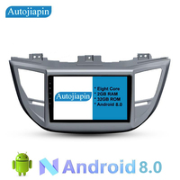 AUTOJIAPIN 10.1 Eight Core Android 8.0 2G RAM 1024*600 Car GPS navigation For HYUNDAI TUSCON 2016 With Car Stereo Radio IPS DAB