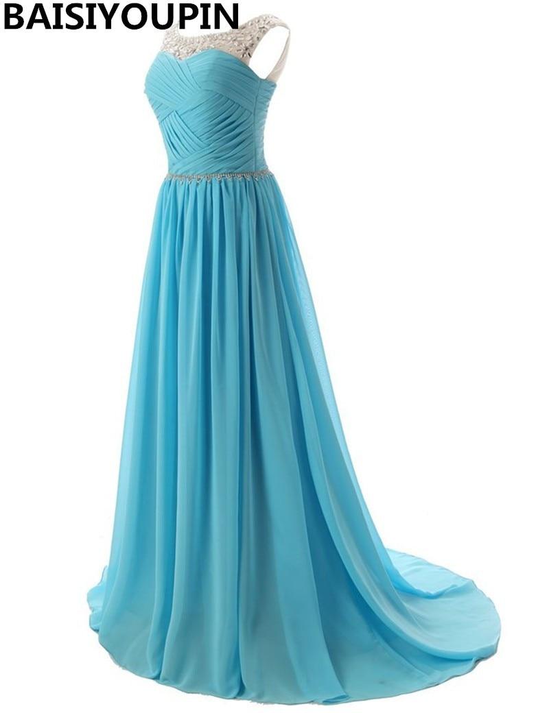 18 couleurs longues robes de soirée 2019 robe Longo Manga Longa robes de soirée formelles bon marché