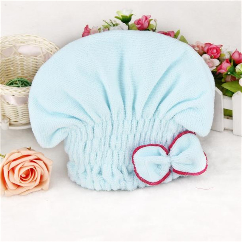 Home Textile Microfiber Hair Turban Quickly Dry Hair Hat Wrapped Towel Bath Shower Caps Womens Girls Ladies Cap Bath Accessories in Shower Caps from Home Garden