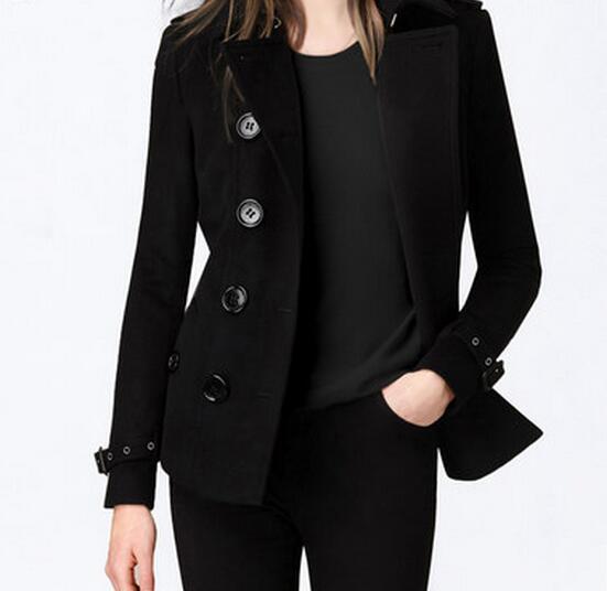 Manteau Moralité À Cultiver Court S En Laine Mode Femmes Chaude Nouvelle Revers 2019 Avec Boutonnage 3xl Double Printemps Sa Noir 17xTF