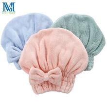 1PC Thicken Cotton Shower Cap Women Pretty Bowknot Bath Hat Bath