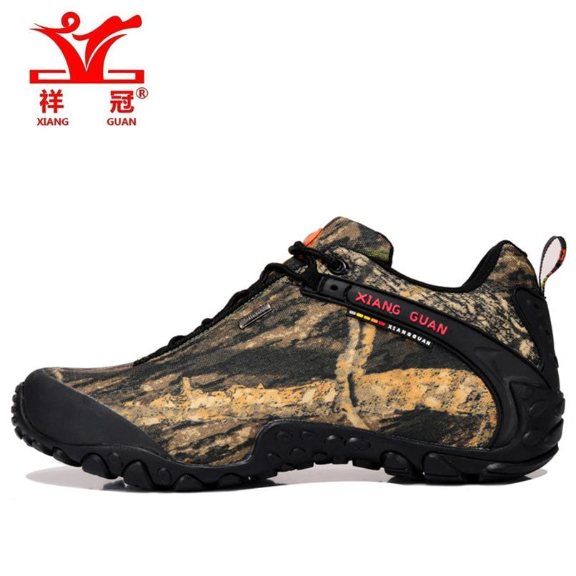 ФОТО Brand Mens Sports Outdoor Hiking Trekking Shoes Sneakers For Men Sport Climbing Mountain Camouflage Shoes Man Senderismo