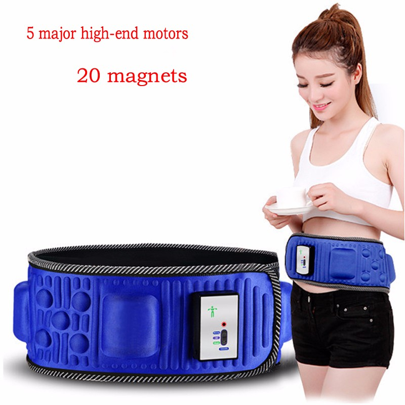 5 Motor Electric Vibrating Slimming Belt Massage Waist Slimming Exercise Leg Belly Fat Burning Heating Abdomen Massager elastic thin slimming belt magic waist abdomen massage belt black