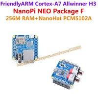 Allwinner H3 Quad-core Cortex-A7 1.2GHz ARM NanoPi NEO(256M RAM)+NanoHat PCM5102A=NanoPi NEO Package F(Runs u-boot,Ubuntu-Core)