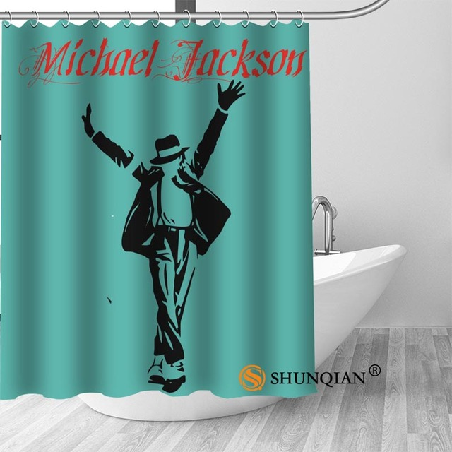 10 Michael jackson shower curtain washable thickened 5c64f7a44eda9