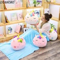 LYDBAOBO 1PC 43CM Kawaii Unicorn With Blanket Plush Doll Baby Soft Animal Pillow Toy Lovely Unicorn Doll Kid Cute Birthday Gifts