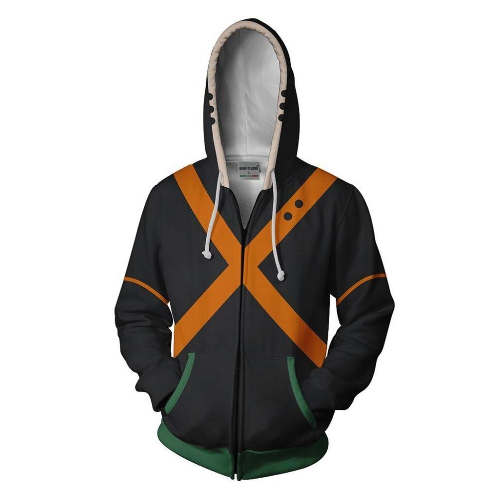 BIANYILONG 2019 new men hooded Katsui Bakugo 3D printed hoodies tracksuit zipper hoodie hip hop tops free store