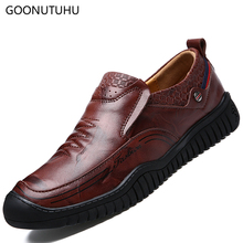 2019 new fashion casual shoes men slip on loafers male spring autumn waterproof platform shoe man driving leather shoes for men все цены