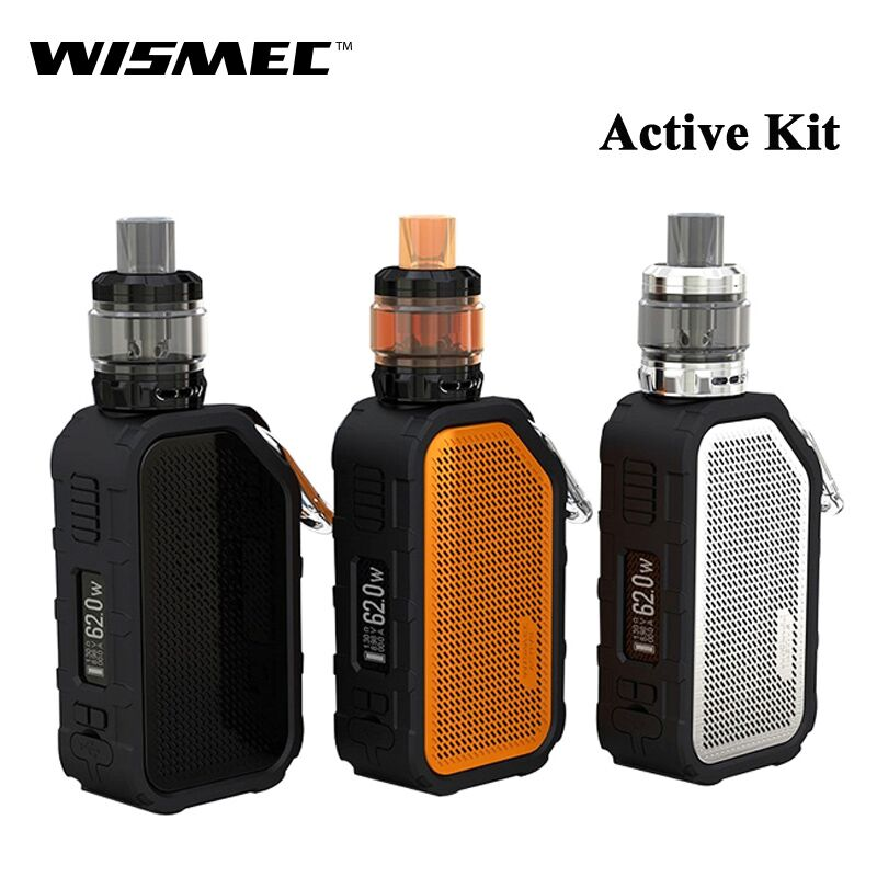 100% Original Wismec Active 80W Kit With Amor NS Plus Built in 2100mAh Battery Bluetooth Music 4.5ml tank Wismec E-Cig Kit original wismec active bluetooth music tc box mod with 2100mah built in battery