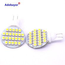 10Pcs T10 194 921 car styling W5W 24 1210 SMD LED RV led 12v parking Landscaping Light car led side Lamp Bulb DC12V Warm White(China)