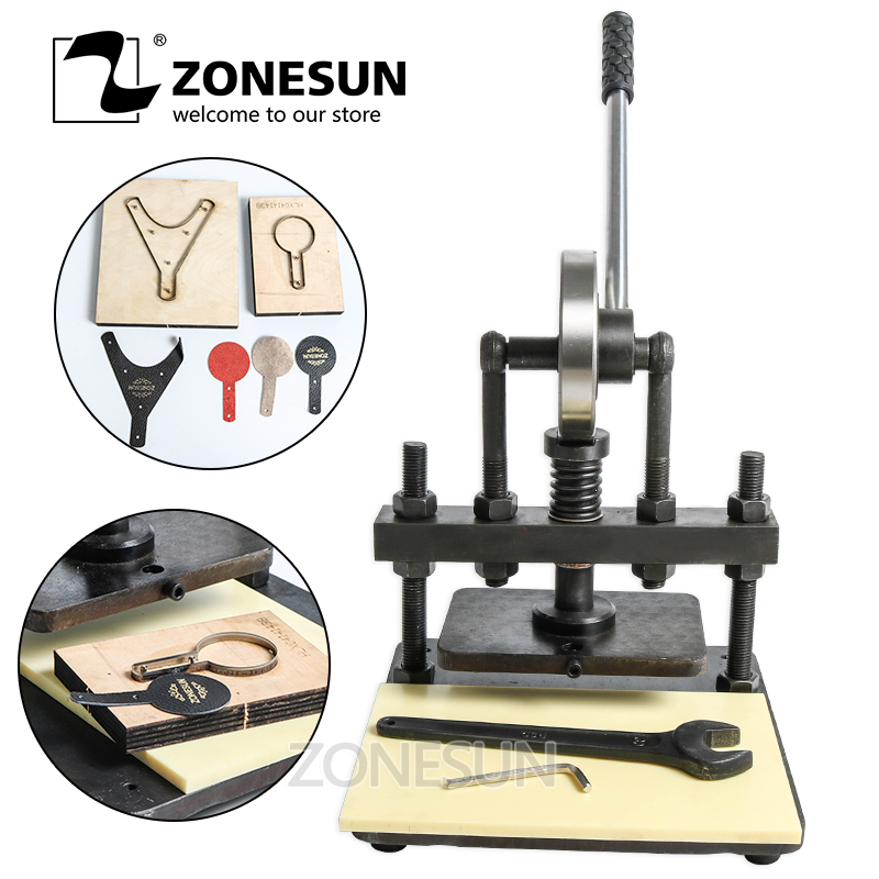 ZONESUN 20x14cm Hand leather cutting machine photo paper PVC EVA sheet mold cutter manual leather mold