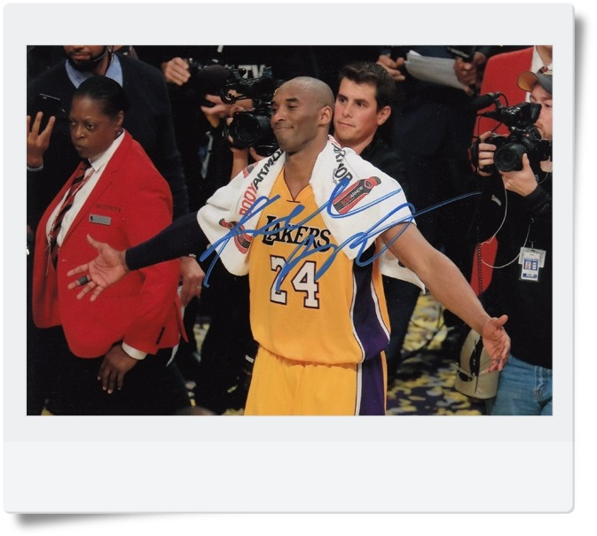 signed Kobe Bryant autographed  original photo 7  inches free shipping 08201710 signed kobe bryant autographed original photo 7 inches free shipping 08201709