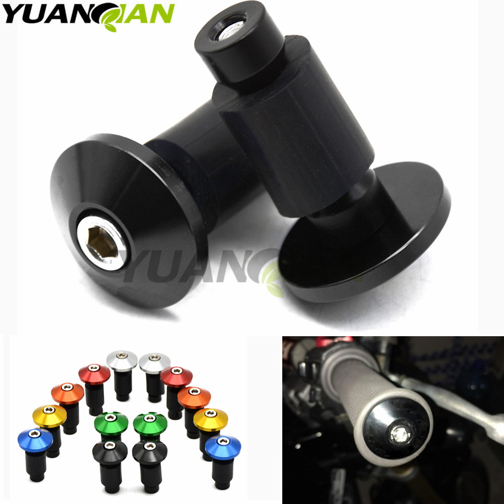 22mm 7/8 Handbar CNC Aluminum Motorcycle Hand Grips Handlebar handle bar Grips Bar Ends for mt09 mt-09 mt 09 yamaha r3 r6 tmax