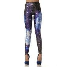 2017 Brand New 3D Digital Blue Galaxy Sexy Legins Fashion Slim Leggins Printed Women Leggings KDK1011