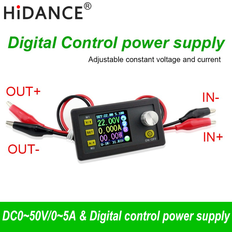 50V 5A 250W Convertidor LCD Medidor de voltaje ajustable Regulador Módulo de fuente de alimentación programable Voltímetro Amperímetro Probador de corriente