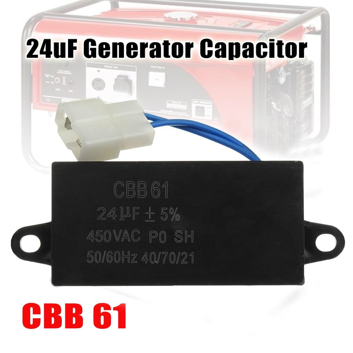 1Pcs New 24uF Generator Capacitor 24uF CBB61 24 uF 50 or 60 Hz 400V AC UPTO 450V AC UL1Pcs New 24uF Generator Capacitor 24uF CBB61 24 uF 50 or 60 Hz 400V AC UPTO 450V AC UL