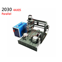4axis Mini Cnc Machine 3020 Pcb Engraving Router With Rotary Axis 300w Spinlde Parallel Port