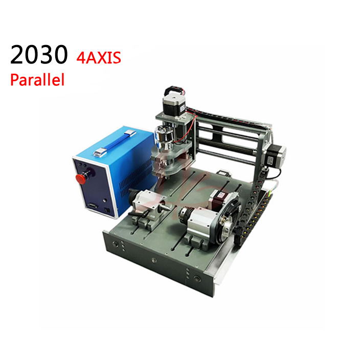 4axis mini cnc machine 3020 pcb engraving router with rotary axis 300w spinlde Parallel port rotary axis mini router cnc