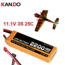Bateria da aeronave modelo 11.1 v 2200 mah 25c 3 s bateria de polímero de lítio bateria avião de aeromodelismo bateria zangão zangão ar poder