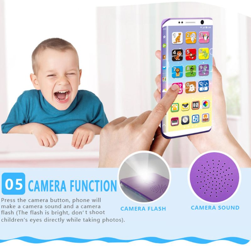 Curved Screen Toy Phones With Light Early Educational Toys Learning English Number Infant Toddler Boy Girl Baby Toy Gift