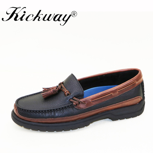 Men's Casual Low Top Flat Slip On Loafers Round Toe Boat Shoes