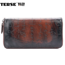 TERSE_New Arrival wallet unique gift genuine leather purse lettering men wallet high quality fashion style wallet dropshipping