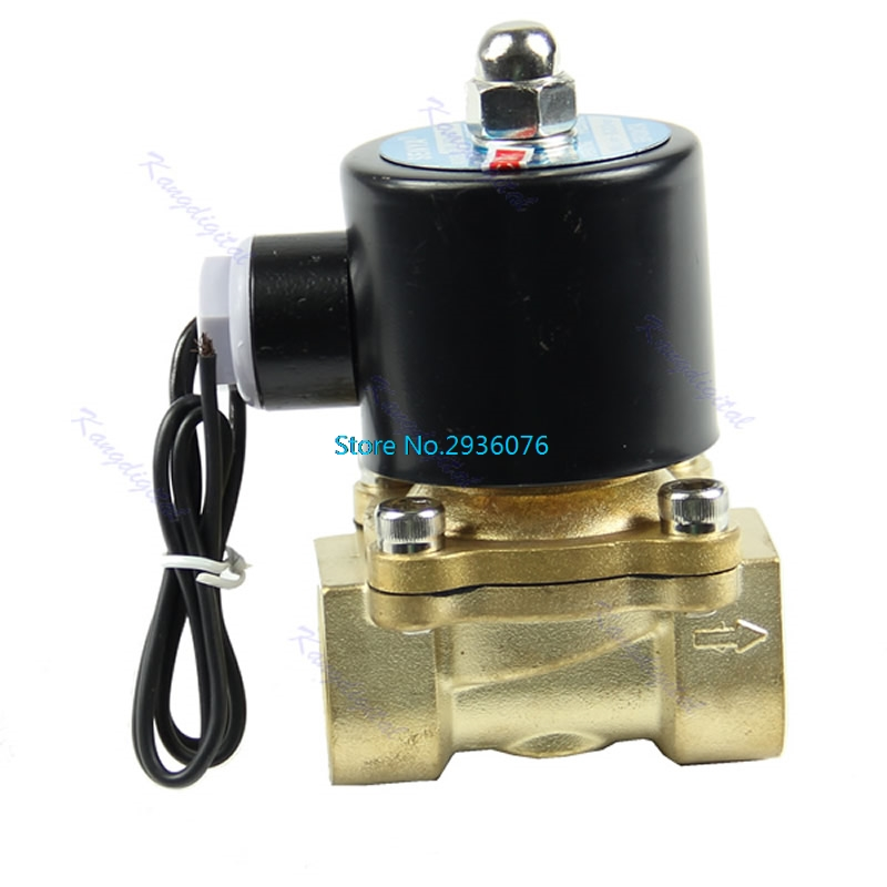 Brass 12V DC 1/2 Electric Solenoid Valve Water Air Fuels Gas Normal Closed MAR20_25 2w 200 20 3 4 inch brass electric solenoid valve water air fuels n c dc 12v