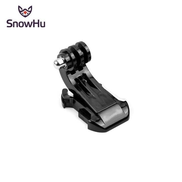 SnowHu J-Hook Fibbia Superficie di Montaggio Per Gopro Accessori 1PCS Per Go Pro hero 8 7 6 5 4 Xiaomi Yi SJCAM Macchina Fotografica di Azione di GP20 1
