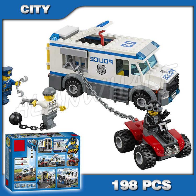 198pcs City Police Prisoner Transporter New Crowbar 10418 Sets Model Building Blocks Kids Toys Bricks Compatible With Compatible With Lego City Policebuilding Blocks Aliexpress