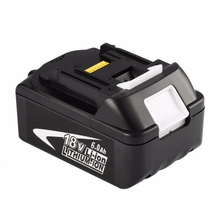 18V 6000mAh Power Tool Battery Pack for Makita BL1850 BL1860 Replacement Battery 18V 6.0Ah Rechargeable Li-ion Battery