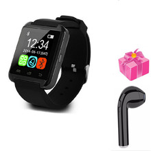 .smart watch digit U8 pk al M5m26 Bluetooth electronic for iPhone iOS Android os wrist watch for men women+free headset