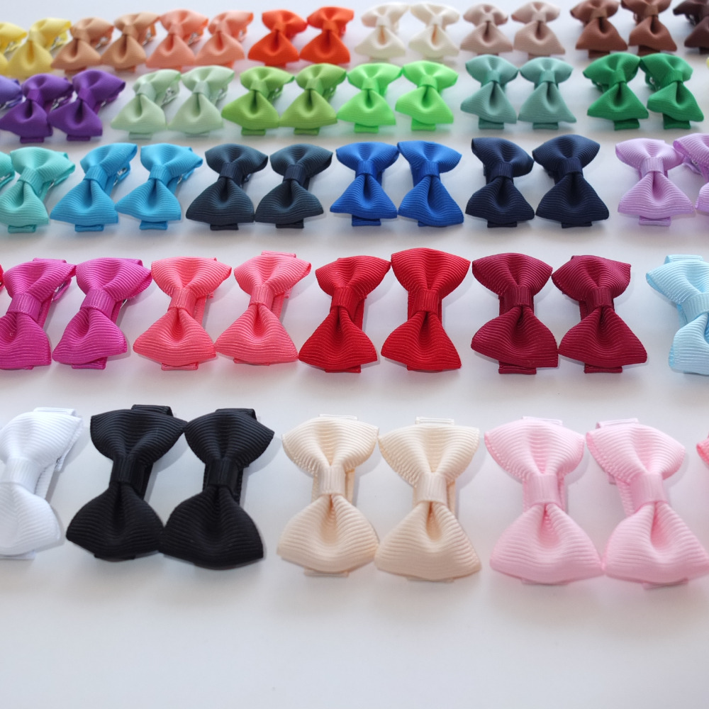 1 Pair Cute bows Kids Girls Hair clips Hair bow Boutique Mini Bows Lovely Barrettes Hairpins Hair accessories Hairgrips   Headwear